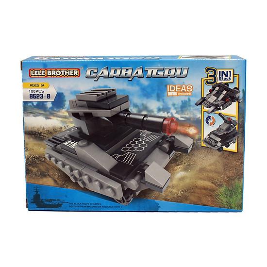 Đồ chơi lắp ghép Xe tăng thiết giáp 3 in 1 Lele Brother (8523-8)