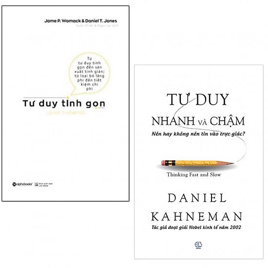 Combo Tư Duy Tinh Gọn, Tư Duy Nhanh Và Chậm (tặng kèm giá đọc sách)