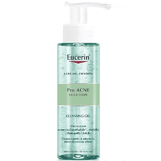 EUCERIN GEL RỬA MĂT CHO DA MỤN PRO ACNE CLEASING GEL 200ML