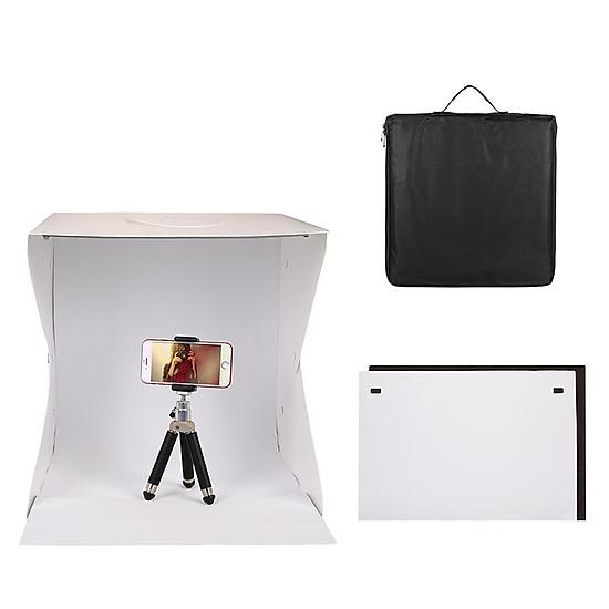 Hộp chụp ảnh sản phẩm Light Room 40x40x40 tặng kèm 6 tấm nền - dc2957
