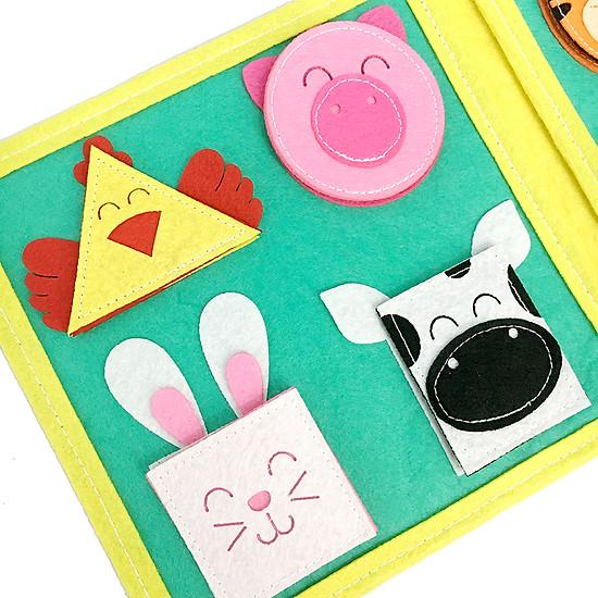 Sách Vải Baby Hình Khối - Dành Cho Bé Từ 0-2 Tuổi
