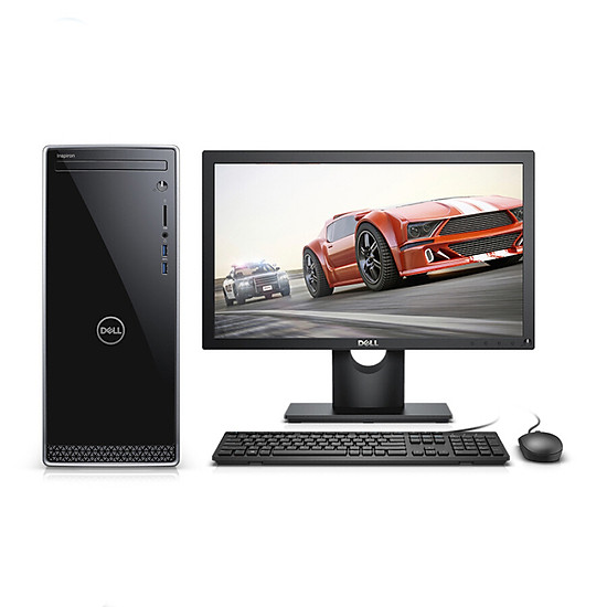 Dell (DELL) Inspiron 3670 high-performance desktop computer (eight generation i5-8400 8G 1T WIFI Bluetooth mouse and keyboard three years home after sale) 21.5 inches