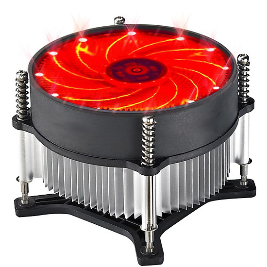 12V Silent Computer Case 3pin CPU Cooling LED Lighting Cooler Fan CPU Heatsink