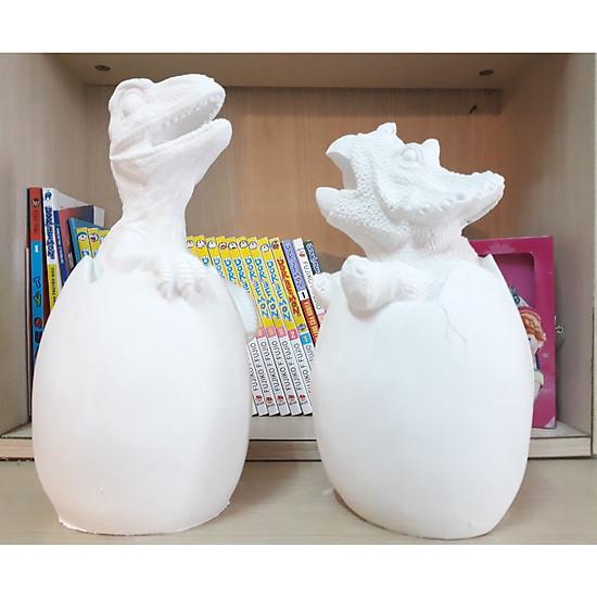 2 Tượng  thạch cao Trứng khủng long – 25 Cm