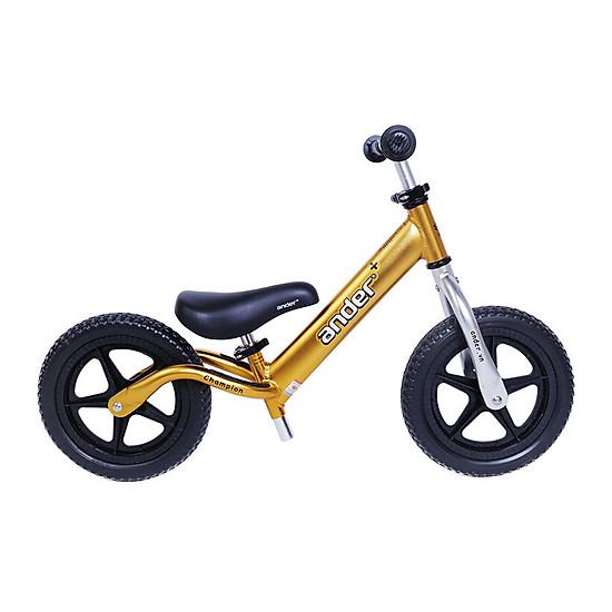 Xe thăng bằng Ander Plus màu vàng phiên bản bánh đặc nhẹ 1,9kg, Phù hợp cho bé từ 18 thán