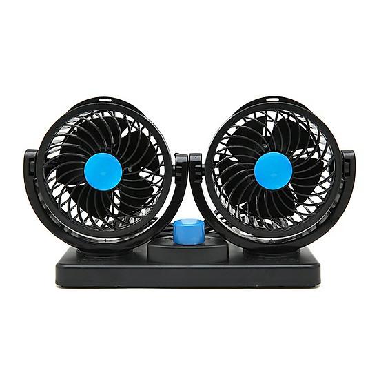 Quạt đôi xoay 360 độ trên ô tô - Nguồn 12V=120.895 ₫