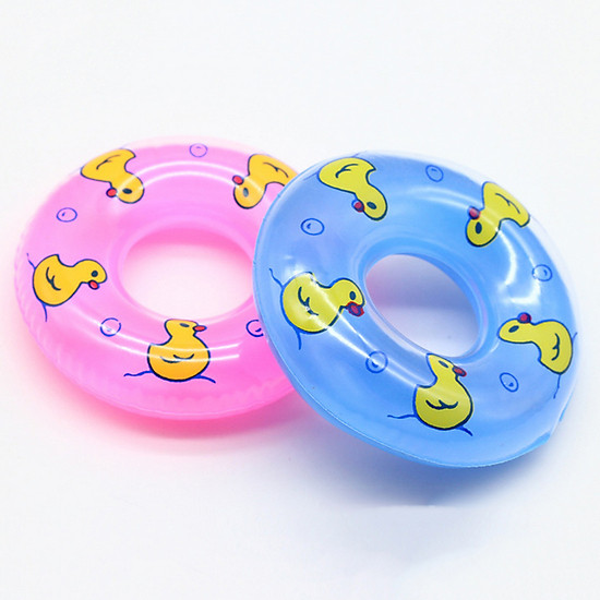 Cute Mini Doll Swimming Buoy Lifebuoy Life Ring for Barbie Girl Toy Accessory