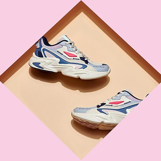 Giày Sneaker 361° 671936786-3 Phối Màu Retro Cá Tính Cho Nam (41) - Beige / Urban Pink-3