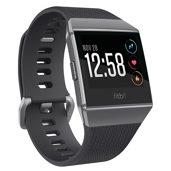Hình đại diện sản phẩm Fitbit Ionic smart watch fitness waterproof Bluetooth can call automatic exercise recognition GPS global positioning music storage call SMS reminder carbon gray