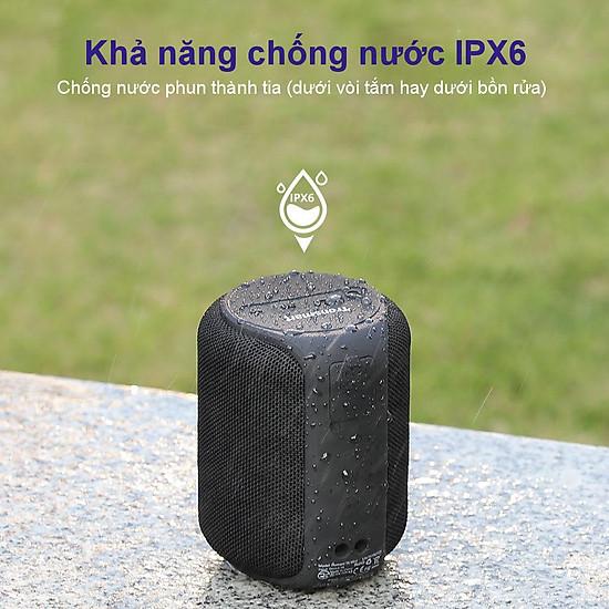 Loa Bluetooth Tronsmart Element T6 Mini Loa Bluetooth 5.0 ngoài trời chống thấm nước IPX6 15W - Hàng Chính Hãng - Đen-3