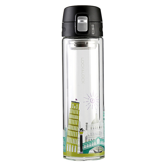 Lock & Lock (LOCK & LOCK) Teacup Glass Cup Double Glass 350ml Italian Style LLG663CRM-0