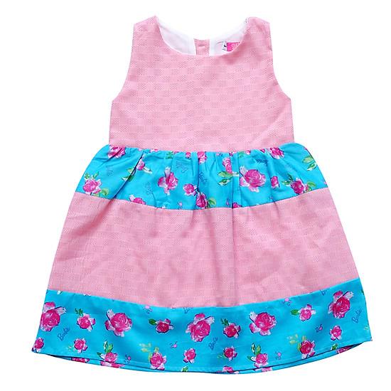 Hình ảnh Đầm Bé Gái Tầng Hồng Và Hoa Xanh CucKeo Kids T11937
