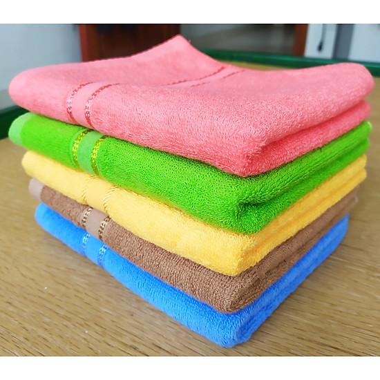 Bộ 5 khăn 100% cotton gội đầu, lau tóc KT 35x75cm (Giao nhiều màu)