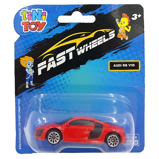 Đồ Chơi Xe Tốc Độ FastWheels 3 Inch – 342000S – Audi R8 V10 – Màu Đỏ