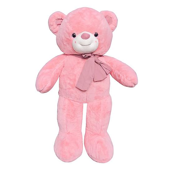Gấu Teddy Hồng Đeo Nơ Ichigo (85cm)