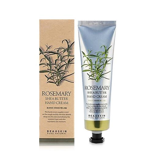 Kem dưỡng tay trị khô nẻ dưỡng mềm da chiết xuất thảo mộc Beauskin Rosemary Shea Butter Hand Cream, Hàn Quốc 100 ml