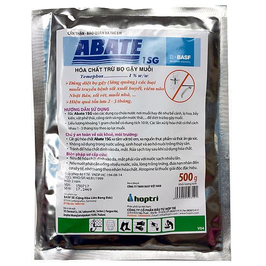 Hình đại diện sản phẩm Thuốc diệt bọ gậy diệt lăng quăng Abate 1SG Gói 500g Phòng trừ muỗi sốt xuất huyết, muỗi Zika