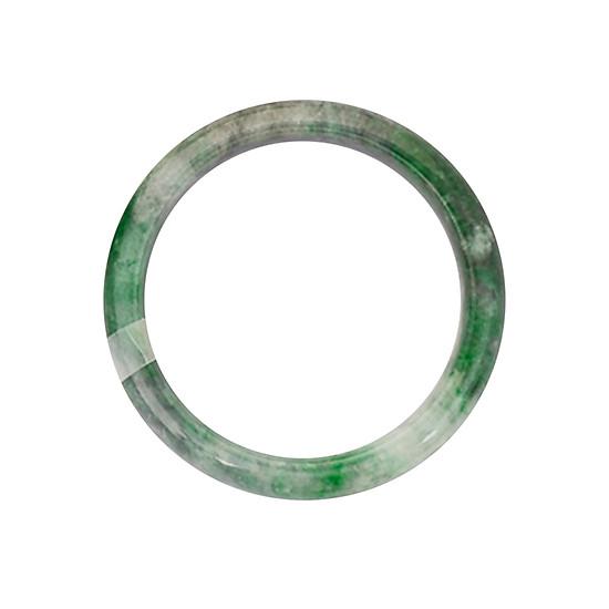 Vòng Tay Unisex Ngọc Cẩm Thạch Phỉ Thúy Bản Oval 54mm Cao Cấp Hadosa NSBJD009S54