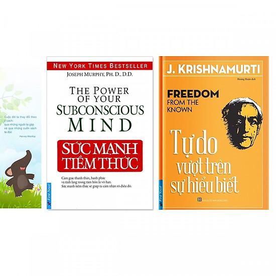 Combo 2 quyển: Sức Mạnh Tiềm Thức + Tự Do Vượt Trên Sự Hiểu Biết (Tặng kèm bookmark danh ngôn hình voi)