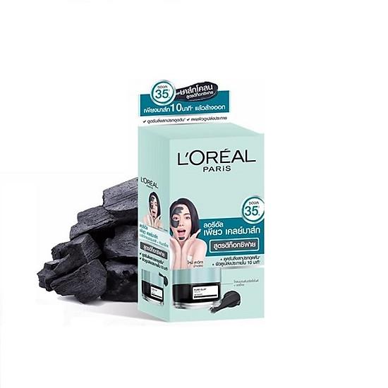 Sample L'oreal Mặt Nạ Đất Sét Thanh Lọc Giảm Mụn Đầu Đen L'Oreal Paris Pure Clay Mask Detoxify (6 Gói/5 Gam)