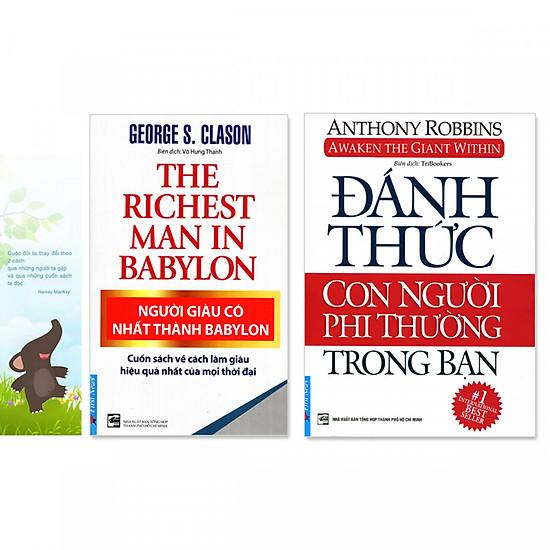 Combo 2 cuốn sách Người Giàu Có Nhất Thành Babylon, Đánh Thức Con Người Phi Thường Trong Bạn (kèm bookmark danh ngôn hình voi)