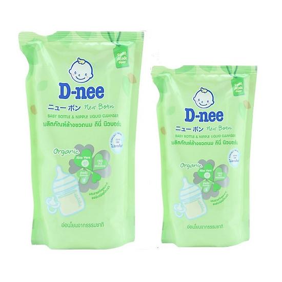 Combo Nước Rửa Bình Sữa Dạng Túi D-nee – Xanh lá (400ml+600ml)