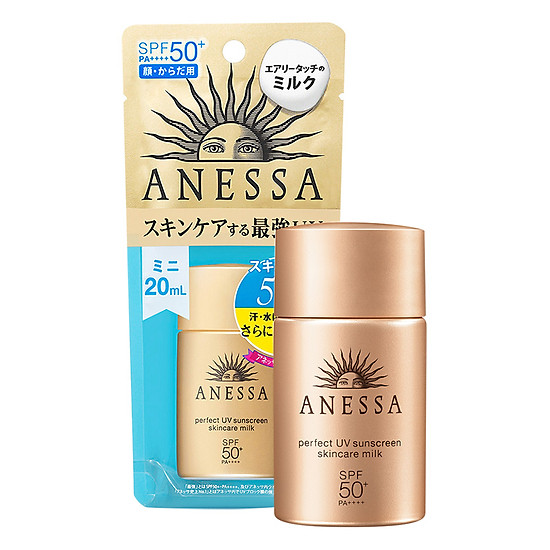 Kem Chống Nắng Anessa Perfect UV Sunscreen Skincare Milk Spf50+ Pa++++ (20ml)