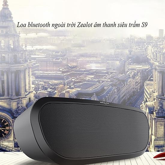 Loa bluetooth Zealot ngoài trời âm thanh siêu trầm S9 hàng chính hãng tương thích điện thoại di động máy tính laptop - Đen-6