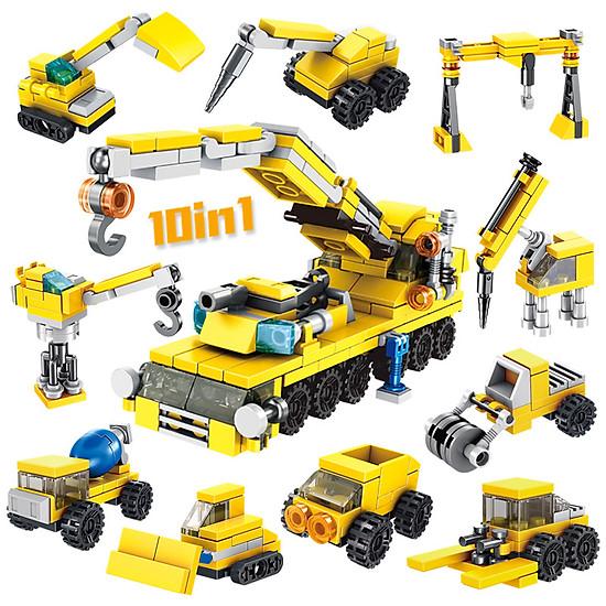Bộ đồ chơi lắp ghép hình xe tải kéo siêu ngầu