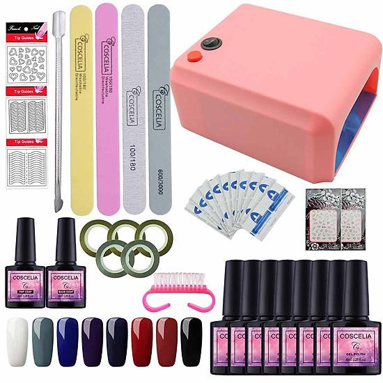 36W Mini Nail Lamp UV Gel Nail Polish Pure Color Nail Art Kit