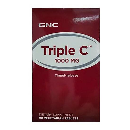 Thực Phẩm Chức Năng Hỗ trợ tăng sức đề kháng GNC TRIPLE C 1000 MG chai 90 viên