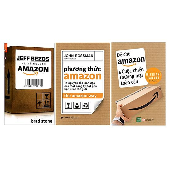 Combo Phương Thức Amazon + Jeffbezos Và Kỷ Nguyên Amazon + Đế Chế Amazon Và Cuộc Chiến Thương Mại Toàn Cầu