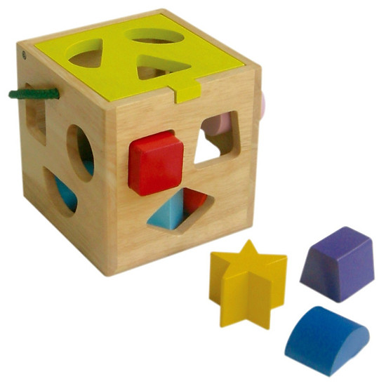 Giỏ Thả 12 Khối  - Đồ chơi gỗ