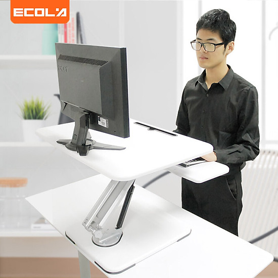 IKEA display computer table long thick lifting desk desk station dual-use notebook monitor bracket folding table desk black D100P