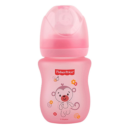 Hình đại diện sản phẩm Fisher (baby Price) baby wide-caliber glass temperature bottle shatter-resistant simulation anti-flatulence newborn baby baby bottle blue 160ml