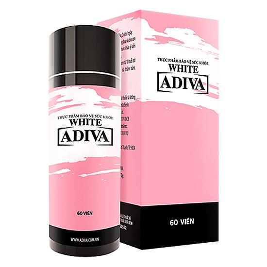 Hình đại diện sản phẩm Thực Phẩm Chức Năng Bảo Vệ Sức Khỏe Viên Nang White Adiva (60 Viên /Hộp)