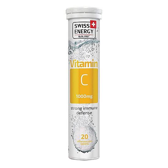 Thực Phẩm Bảo Vệ Sức Khoẻ Viên Sủi Swiss Energy Vitamin C (20 Viên/ Tuýp)