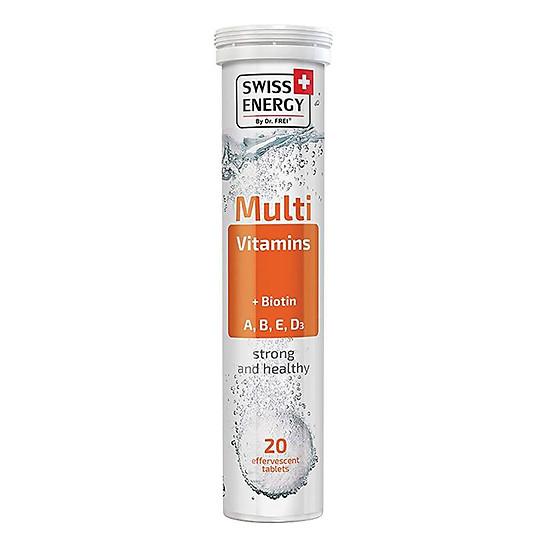 Thực Phẩm Bảo Vệ Sức Khoẻ Viên sủi Swiss Energy Multivitamins + Biotin ( 20 Viên/ Tuýp)