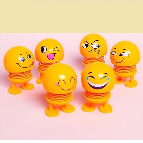 Bộ 6 Mặt cười gắn lò xo nhún nhảy trang trí taplo xe hơi (ô tô) - Mặt cười Balody - Mặt cười=77.999 ₫