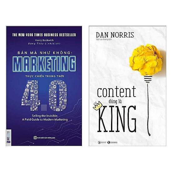 Combo 2 cuốn sách kinh tế hay: Bán Mà Như Không Marketing Thực Chiến Trong Thời 4.0 + Content Đúng Là King