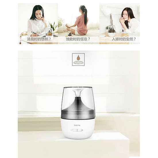 Xiaomi Ecological Chain Ultrasonic Aromatherapy Humidifier With Colorful Night Light Two Spray Modes Mini Air Humidifier Household Nano Spray Mute Humidifying Aroma Diffuser For Office Car Use - White-8