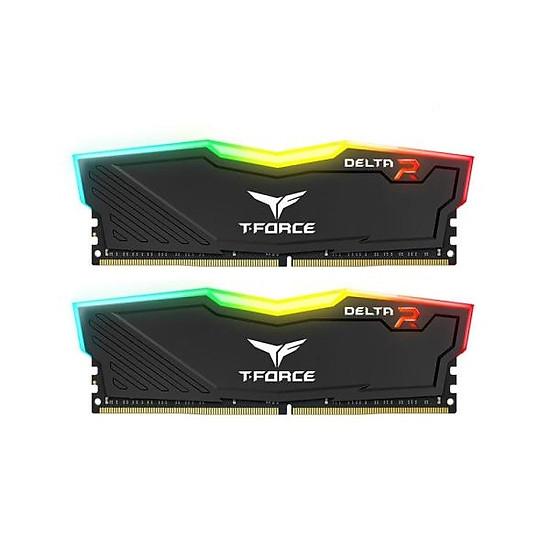 Ram TEAMGROUP T-Force Delta RGB Series 16GB (2 x 8GB) - 3000MHz LED 16,8 triệu màu, tản nhiệt nhôm