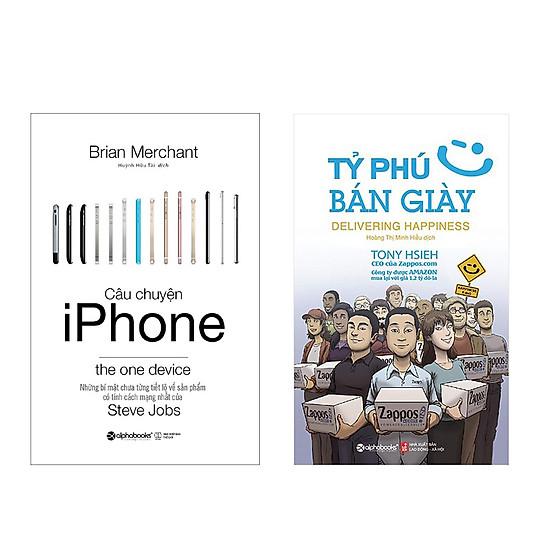 Bộ Sách Kinh Doanh Câu Chuyện Iphone và Tỷ Phú Bán Giày