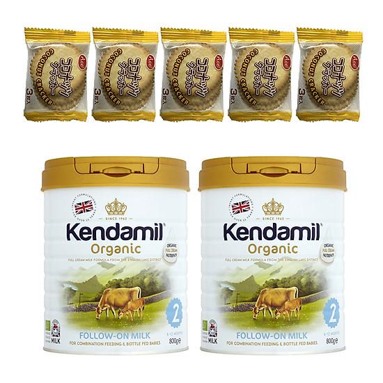 Combo 2 hộp Sữa Nguyên kem công thức hữu cơ KENDAMIL ORGANNIC số 2: ORGANIC FOLLOW ON MIL