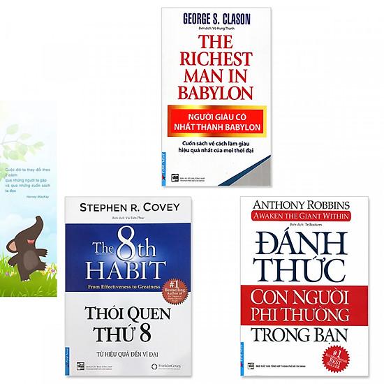 Combo 3 cuốn: Người Giàu Có Nhất Thành Babylon, Đánh Thức Con Người Phi Thường Trong Bạn, Thói Quen Thứ 8 (Tặng kèm bookmark danh ngôn hình voi)