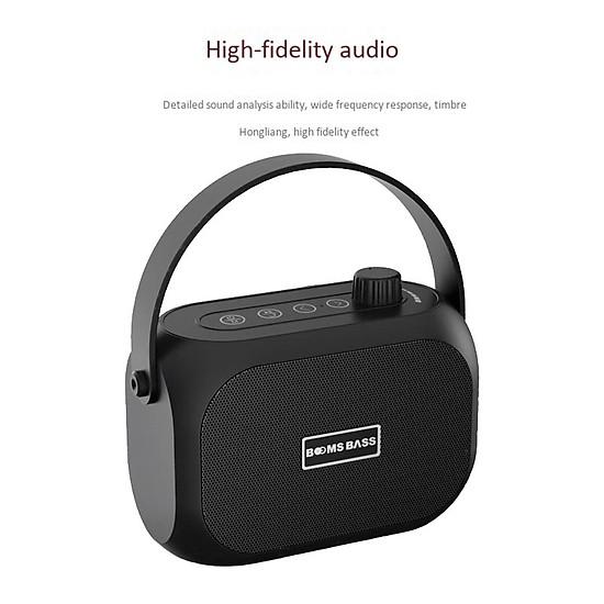 Loa bluetooth không dây mini LANITH bass mạnh Boombass L15 - Tặng cáp sạc 3 đầu – Thiết kế nhỏ gọn, thời trang – Kết nối không dây bluetooth, kết nối USB, thẻ nhớ - LB000015.CAP0001 - Đen-6