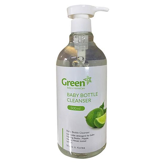 Nước Rửa Bình Hương Chanh Dành Cho Trẻ Em Green (500ml / Chai)
