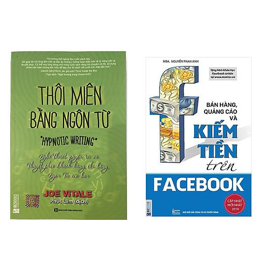 Combo sách thôi miên bằng ngôn từ và Bán Hàng, Quảng Cáo Và Kiếm Tiền Trên Facebook tặng 1 cuốn truyện song ngữ bất kỳ trong 4 cuốn truyện