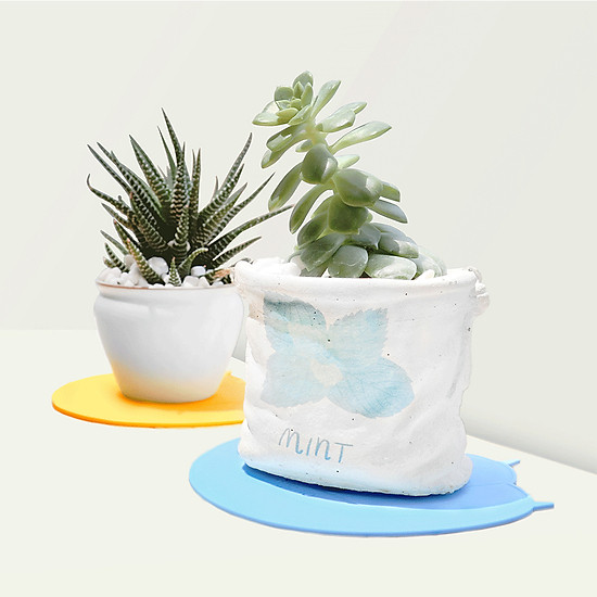 Uareliffe 3Pcs Cat Paw Cup Pad Cute Silicone Coaster Coffee Cup Mat Mug Table Pad Non-slip Heat Insulation Cup Pads Dirt-resistant Tableware Placemat Kitchen Accessories - Blue-1