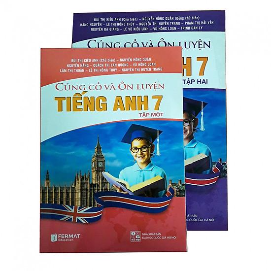 Combo Củng cố và ôn luyện Tiếng Anh lớp 7 tập 1&2